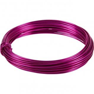 Deko Basteldraht, Aluminiumdraht pink 3 Meter D. 2mm (0, 50â?¬/m) Season