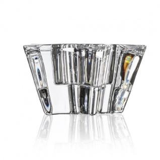 6er Set Teelichthalter STAR Stern H. 5cm D. 9cm Glas transparent Sandra Rich