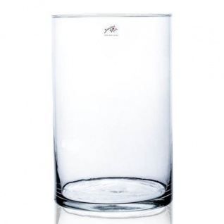 45er Set Dekoglas CYLI Glas zylindrisch rund H. 30cm D. 19cm klar Sandra Rich