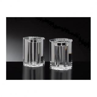 2er Set OCTOGAN Salz- & Pfefferstreuer H. 5cm Kristallglas, eckig, Cassini WA