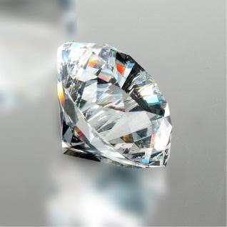 Deko Diamant klar D. 6cm Glas geschliffen Formano