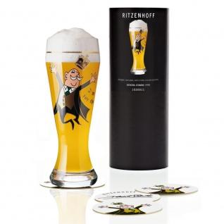 Ritzenhoff Designer Weizenbierglas by Debora Jedwab 1998