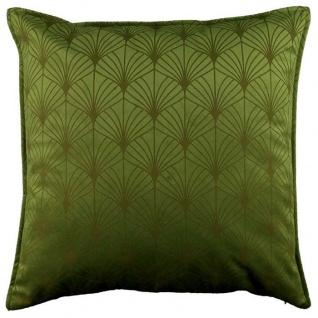 Kissenhülle, Kissenbezug ART DECO 45x45cm avocado green grün LEMETEX