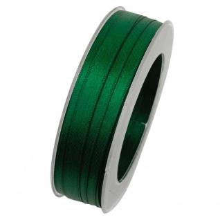 Doppelsatin Stoffband Schleifenband 10mm (M=0, 2EUR) dunkelgrün 25m Rolle Goldina