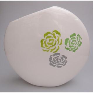 Deko Vase FIORE Keramik weiß glasiert H. 39cm B. 40cm Casablanca WA
