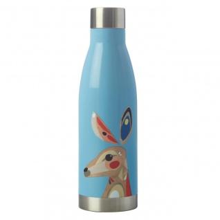 Pete Cromer Trinkflasche Kangaroo Känguru hellblau für 500ml Maxwell & Williams