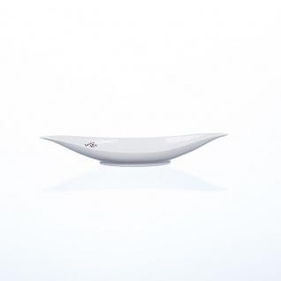 Dekoschale, Dekoteller BOAT 30x10cm weiß länglich Porzellan Sandra Rich