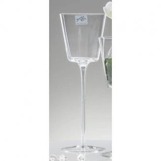 Teelichthalter Kerzenglas auf Fuß CONI Dekoglas H. 30cm rund klar Sandra Rich