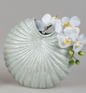 Deko Vase SPRINGTIME in Muschelform 29x29cm grün Keramik Formano F21