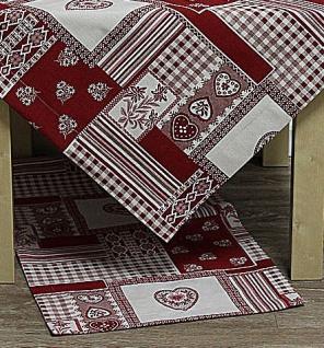 Tischläufer Taylor Herzen & Ornamente rot weiß 50x150cm Hossner