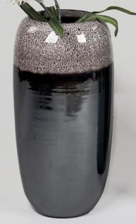Deko Bodenvase BLACK SNOW H. 55cm schwarz grau braun Keramik Formano