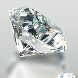 Deko Diamant klar D. 5cm Glas geschliffen Formano