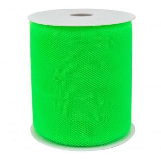 Tüllband, Schleifenband gewirkter Tüll 50mm grün 50m Rolle (1m=0, 10EUR) Goldina
