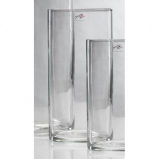 6er SET Glasvasen, Dekogläser CYLI H. 30cm D. 15cm Glas zylindrisch Sandra Rich