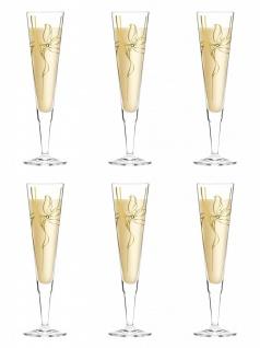6er Set Ritzenhoff CHAMPUS Champagnerglas by Malika Novi 2019
