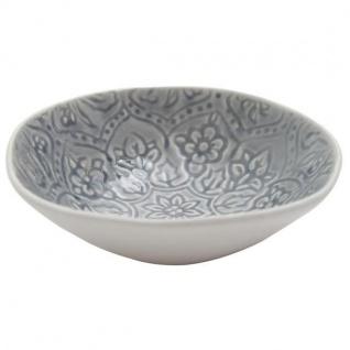 Müslischale PREGO BOTANIC DUSTY grau blau D. 18cm H. 5cm Keramik A.U Maison WA