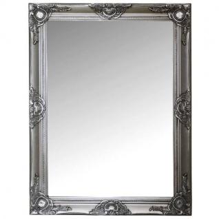 Spiegel mit Rahmen aus Holz, Silber, Shabby Chic, 82x68x7cm