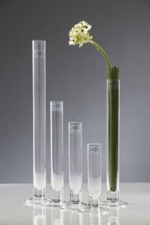 Reagenzglas, Glasvase SOLIFLEUR mit Fuss H. 30cm D. 3cm rund klar Sandra Rich
