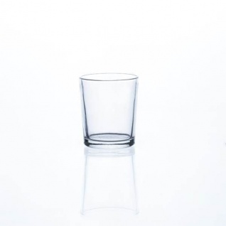 Teelichthalter, Windlicht PROMO H 6, 5cm D 5, 5cm Glas klar rund Sandra Rich