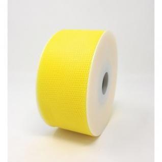 Tüllband, Schleifenband gewirkter Tüll 50mm gelb 50m Rolle (1m=0, 10EUR) Goldina
