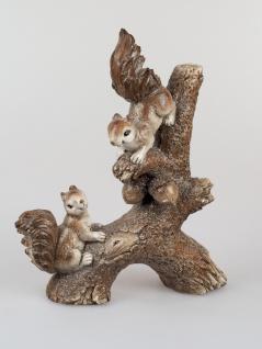 Dekofigur Eichhörnchen auf Ast NATURE L. 40cm braun Magnesia Formano W21
