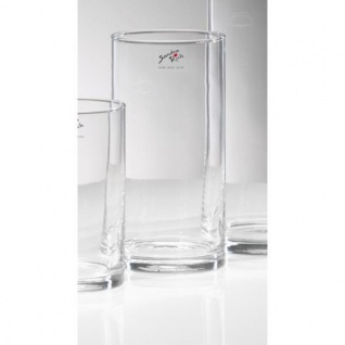 5er SET Glasvasen CYLI Höhen 20+25+30+40+50cm Ø 10cm zylindrisch Sandra Rich