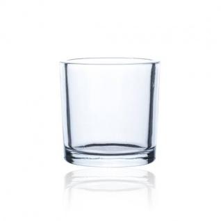 Teelichterhalter, Dekoglas CYLI HEAVY H. 10cm D. 10cm rund klar Sandra Rich