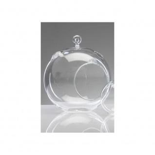 6er SET Glaskugel mit Öffnung, Hängevasen KUGEL Glas klar Ø 10cm Sandra Rich