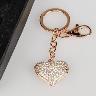 Schlüsselanhänger Herz rose-gold Formano