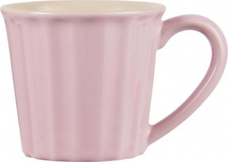 Tasse, Becher MYNTE English Rose Rosa für 250ml Steingut Ib Laursen