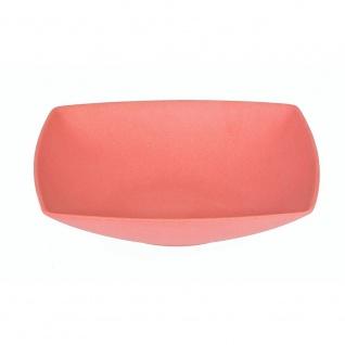 Suppenteller, Müslischale quadratisch rot 18x18cm H. 4cm Magu NATUR DESIGN