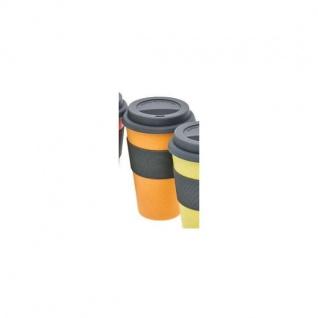 Coffee TO GO Becher Kaffeebecher orange Bambus H. 15cm Magu NATUR DESIGN WA