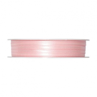 Satinband, Schleifenband, Dekoband 3mm, rosa, 50m Rolle (1m=0, 10 EUR) Halbach