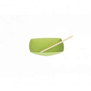 Suppenteller, Müslischale Quadratisch grün 18x18cm H. 4cm Magu NATUR DESIGN