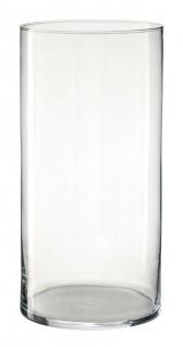 Bodenvase Dekoglas ZYLINDER H. 50cm D. 19cm Glas klar rund Rudolph Keramik