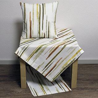 Tischdecke Mitteldecke Blair Streifen weiß mehrfarbig 85x85cm Baumwolle Hossner