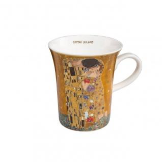 Gustav Klimt Becher, Tasse Der Kuss H. 11cm 400ml Goebel Porzellan