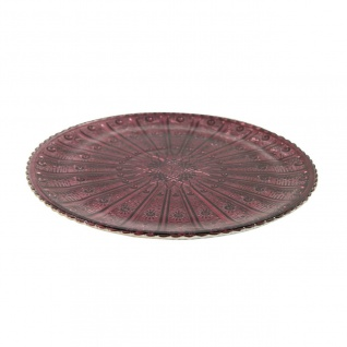 Dekoteller, Glasplatte COLET S lila D. 18, 5cm H. 1, 3cm Decostar WA