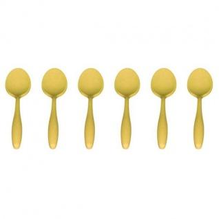 6er SET Eierlöffel, Löffel Bambus gelb Magu NATUR DESIGN