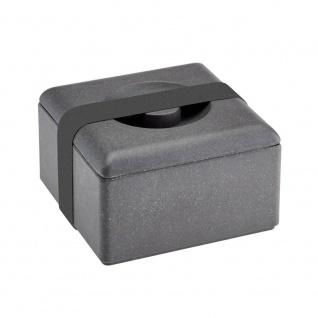 Lunchbox, Brotdose schiefer / schwarz grau 13x13cm Magu NATUR DESIGN