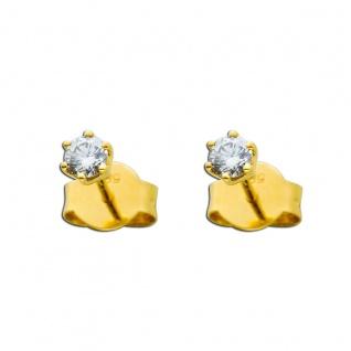 Brillant Ohrringe 0, 25ct TW/IF Gelbgold 585 Solitär Ohrstecker
