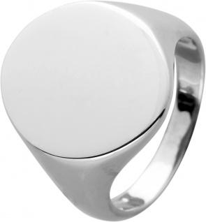 Siegelring gravierbar poliertem Silber 925