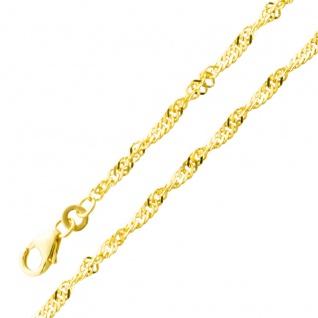Armband Gold Goldkette Singapurkette Gelbgold 333 2, 4mm Breit massiv
