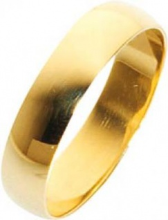Trauring Ehering Gelbgold 585/- 5x1, 3mm