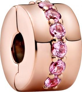 Pandora Reflexions Clip Charm 781972C01 Pink Sparkling Row Rose