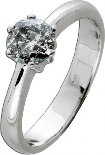 Brillantring Diamantring Solitär 0, 91ct Weissgold 585 Brillant Gr.