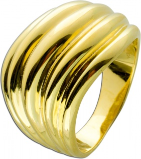 Designer Ring Silber 925 vergoldet Wellenform Design