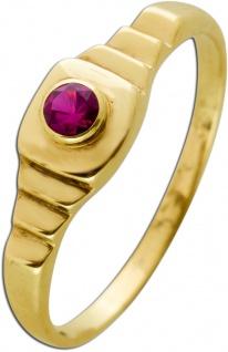 Antiker Rubin Ring Gelbgold 333 Synthetischer Roter Edelstein Um 1920