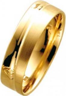 Trauring aus Gelbgold 585/- Breite 6, 0mm, Stärke 1, 2mm