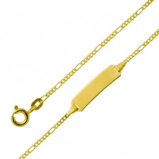 Gravur Armband - Gold 333 1, 5mm Gravurplatte poliert massiv